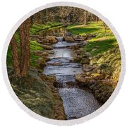Beautiful Stream Round Beach Towel