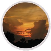 Round Beach Towel featuring the photograph Beautiful Sunset by Debra Crank