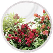 Round Beach Towel featuring the photograph Beautiful Tangled Hedge by Cindy Garber Iverson