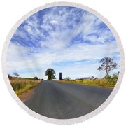 Round Beach Towel featuring the photograph Beautiful Taree 666 by Kevin Chippindall