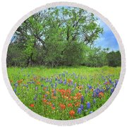 Beautiful Texas Spring Round Beach Towel