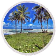 Beautiful Trinidad Round Beach Towel