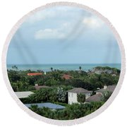 Beautiful Vero Beach Florida Round Beach Towel