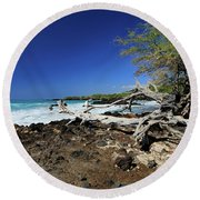 Beautiful Waialea Beach II Round Beach Towel