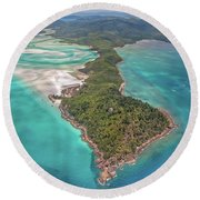 Beautiful Whitsundays Round Beach Towel by Az Jackson