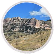 Beautiful Wyoming Round Beach Towel