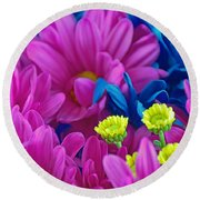 Beauty Among Beauty Round Beach Towel