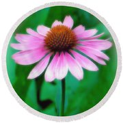 Beauty Among The Leaves Round Beach Towel