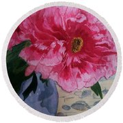 Beauty And Beyond Round Beach Towel