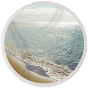 Round Beach Towel featuring the photograph Beauty And The Beach by Sharon Mau