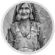 Beauty Before Age. Round Beach Towel