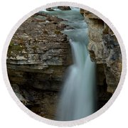 Beauty Creek Blue Falls Round Beach Towel