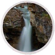 Beauty Creek Blue Waterfall Round Beach Towel