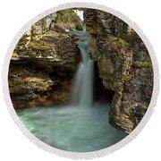 Beauty Creek Canyon Falls Round Beach Towel