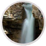 Beauty Creek Stanley Falls Round Beach Towel