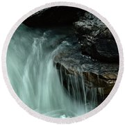Beauty Creek Streaming Over The Edge Round Beach Towel