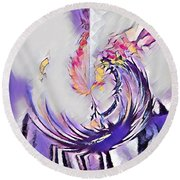 Beauty For Ashes II Round Beach Towel