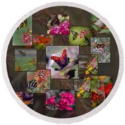 Beauty In Butterflies Round Beach Towel