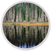 Beauty In Idaho Bog Round Beach Towel