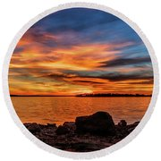 Beauty In Nature Round Beach Towel by Doug Long