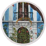 Beauty In Old San Juan Round Beach Towel