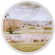Beauty In Rustic Gretna Round Beach Towel