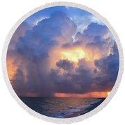 Beauty In The Darkest Skies II Round Beach Towel