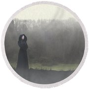 Beauty In The Fog Round Beach Towel