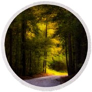 Beauty In The Forest Round Beach Towel