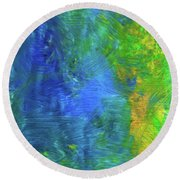 Beauty Round Beach Towel by Karen Nicholson