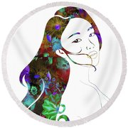Beauty Lingers Round Beach Towel
