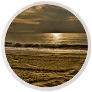 Beauty Of A Day Round Beach Towel by Trish Tritz