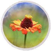 Beauty Of Nature Round Beach Towel by Cathy Harper
