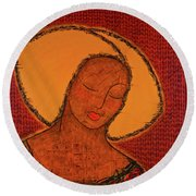 Beauty Of Silence Round Beach Towel