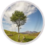 Beauty Of The Highlands Round Beach Towel by Davorin Mance