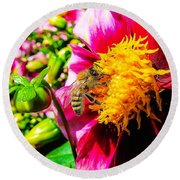 Beauty Of The Nature Round Beach Towel