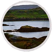 Round Beach Towel featuring the photograph Beauty On The Rocks by Patricia Griffin Brett