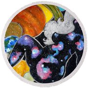 Beauty Out Of This World Round Beach Towel