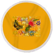 Beauty Without Vanity Round Beach Towel