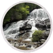 Beaver Brook Falls Round Beach Towel
