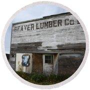 Beaver Lumber Company Ltd Robsart Round Beach Towel by Bob Christopher