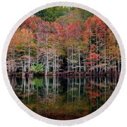 Beaver's Bend Cypress Soldiers Round Beach Towel
