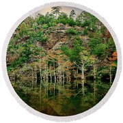 Beaver's Bend Overlook Round Beach Towel by Tamyra Ayles
