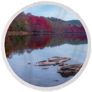 Beavers Bend State Park Round Beach Towel