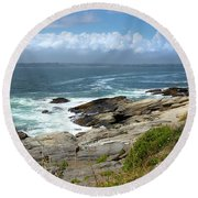 Beavertail Point Jamestown Rhode Island Round Beach Towel