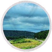 Beckoning Road Round Beach Towel by Aliceann Carlton