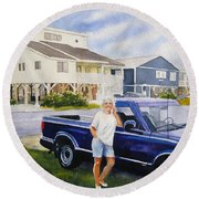 Becky Round Beach Towel
