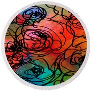 Bed Of Roses Round Beach Towel