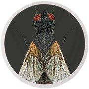 Bedazzled Housefly Transparent Background Round Beach Towel