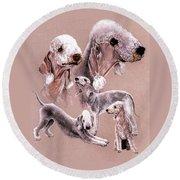 Bedlington Terrier Round Beach Towel